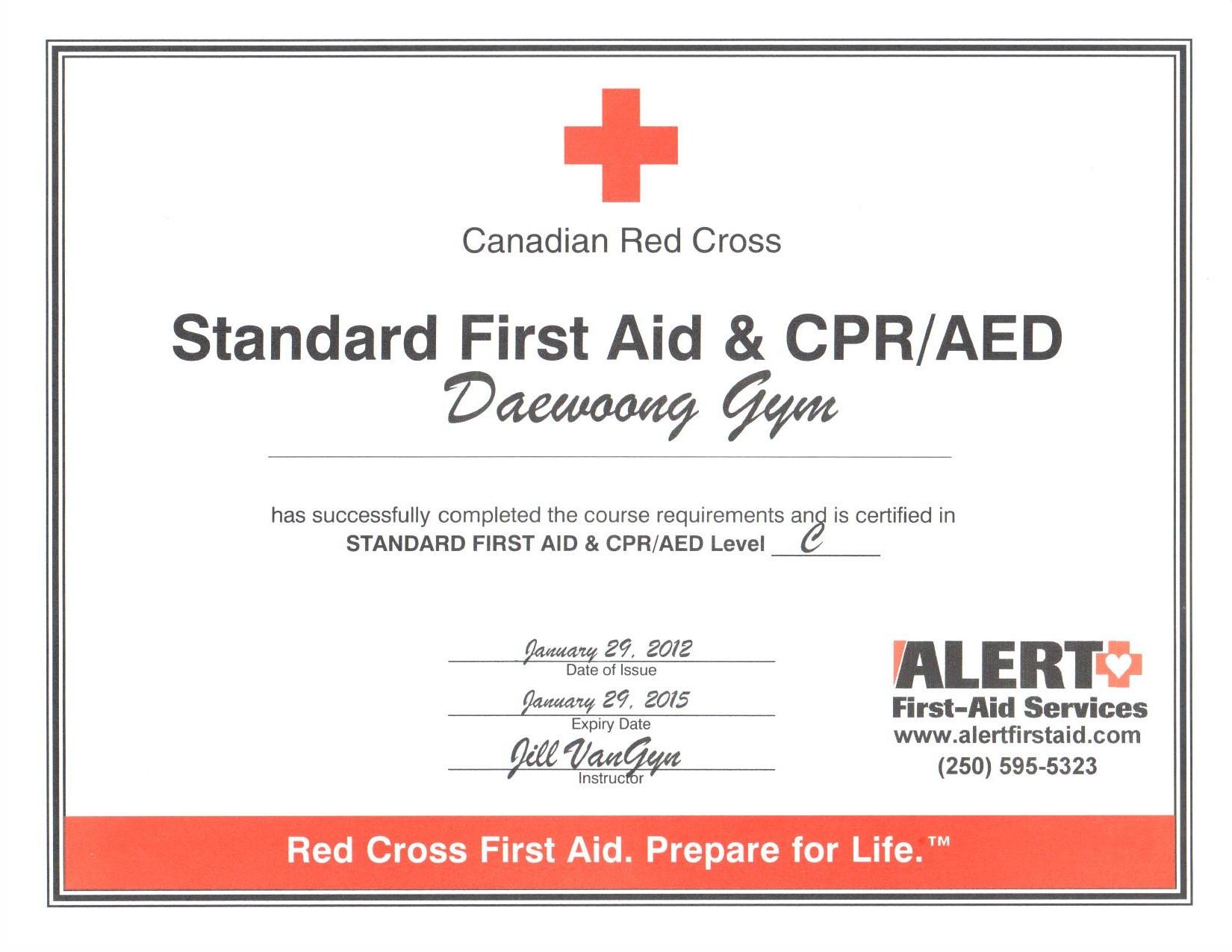 First Aid Canadapga